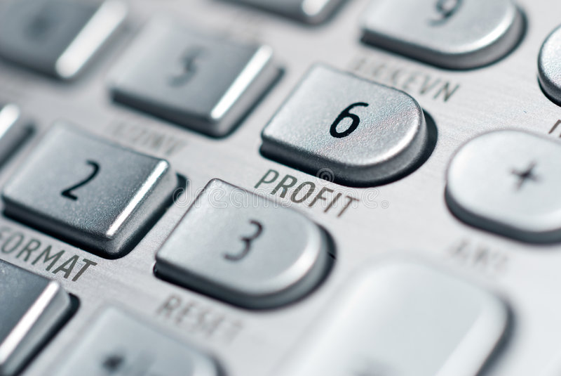 pieniężny postępowy kalkulator obrazy stock