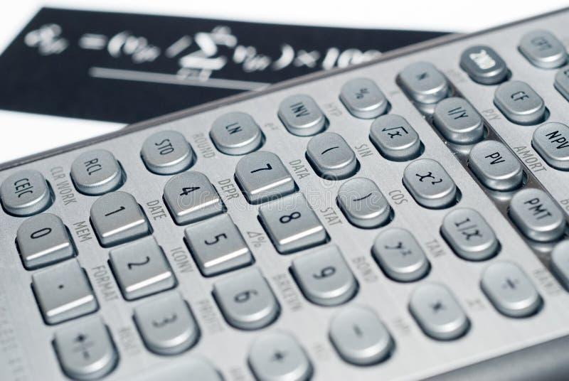 pieniężny postępowy kalkulator fotografia stock