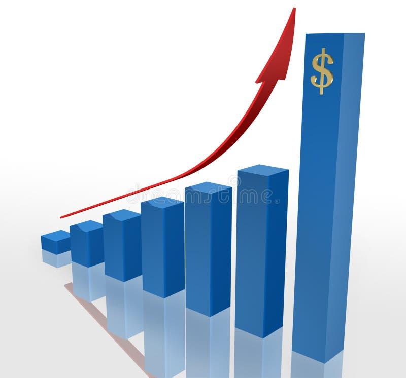 pieniężny przyrost zdjęcia royalty free