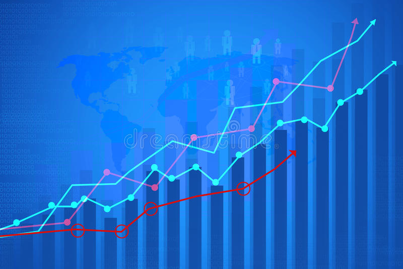 Pieniężny wykres zdjęcia stock