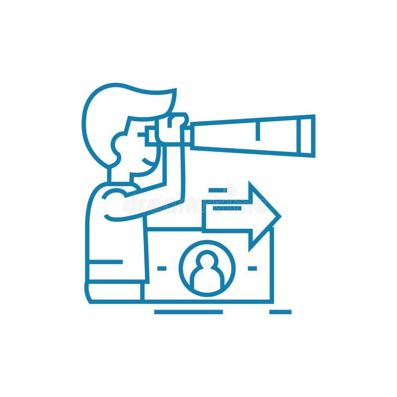 Pieniężnych inwestycj ikony liniowy pojęcie Pieniężnych inwestycj wektoru kreskowy znak, symbol, ilustracja ilustracja wektor