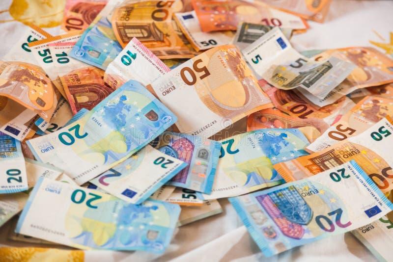 Pieniędzy euro banknoty zdjęcia stock