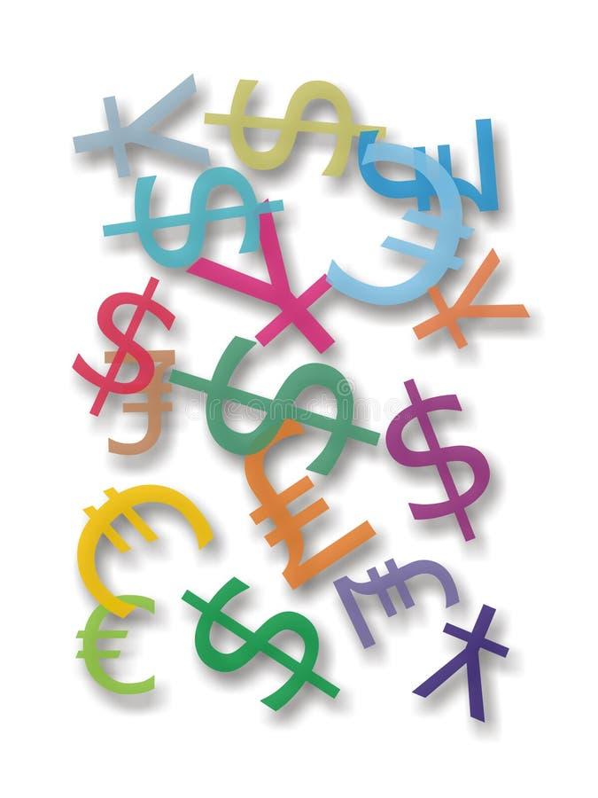 pieniędzy symbole zdjęcie stock