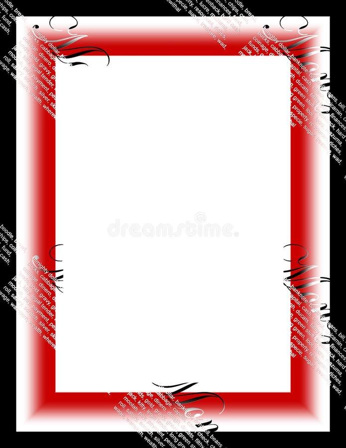 Download Pieniądze. ilustracji. Obraz złożonej z granica, rama, zaproszenie - 42099