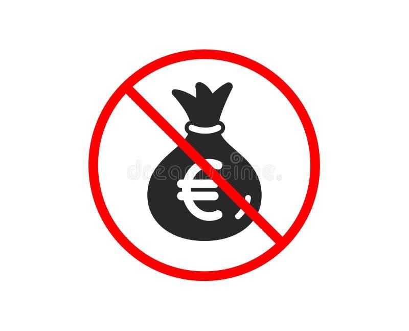 Pieni?dze torby ikona Got?wkowa bankowo?ci waluta wektor royalty ilustracja