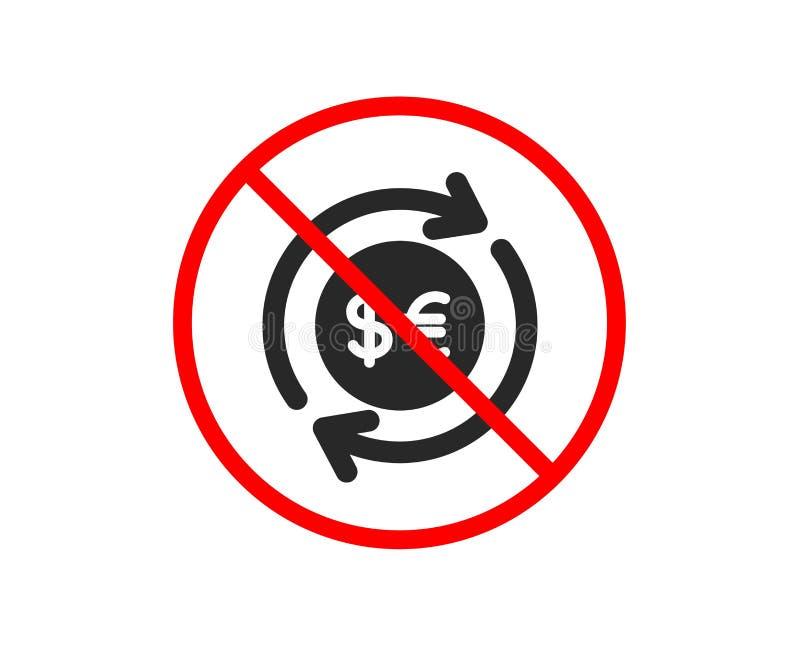 Pieni?dze wymiany ikona Bankowo?ci waluta wektor royalty ilustracja