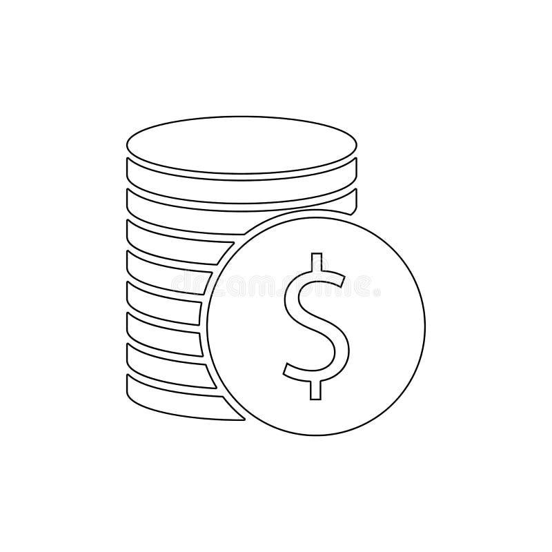 Pieni?dzy cent?w ikona Element kasynowa ikona Premii ilo?ci graficznego projekta ikona Znaki i symbol inkasowa ikona dla stron in ilustracji