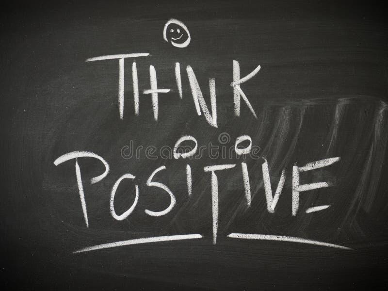 Piense el concepto positivo imagenes de archivo