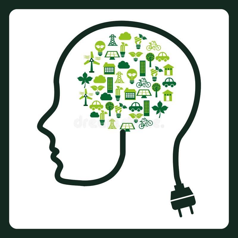 Piense el diseño verde libre illustration
