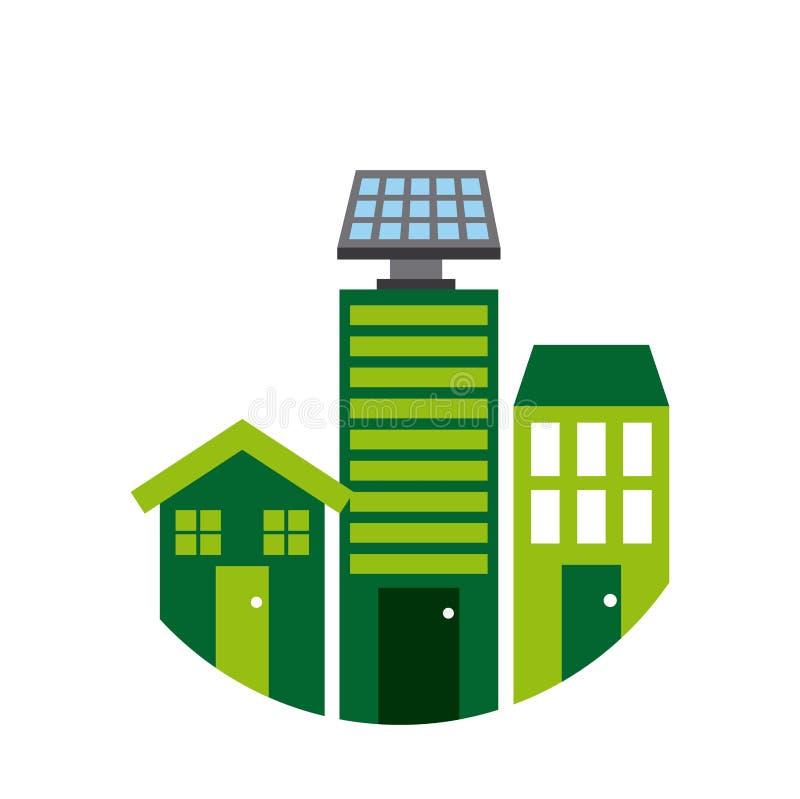 Piense el diseño verde stock de ilustración