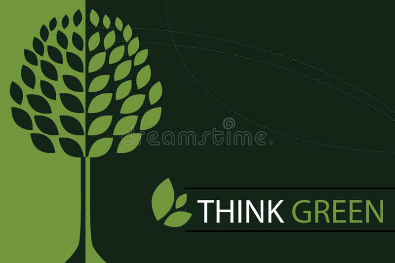 Piense el fondo verde del concepto - vector libre illustration