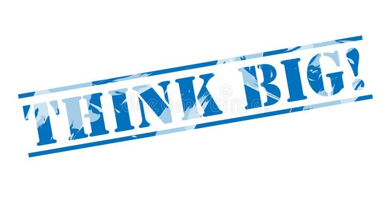 Piense el sello azul grande libre illustration
