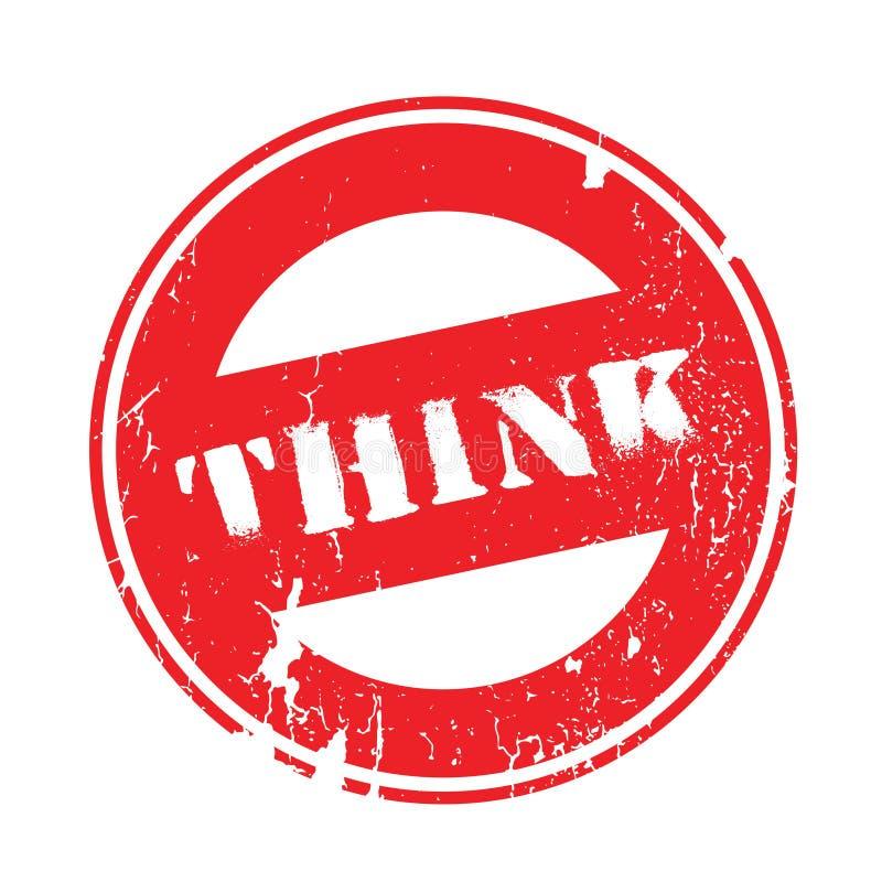 Piense el sello de goma libre illustration
