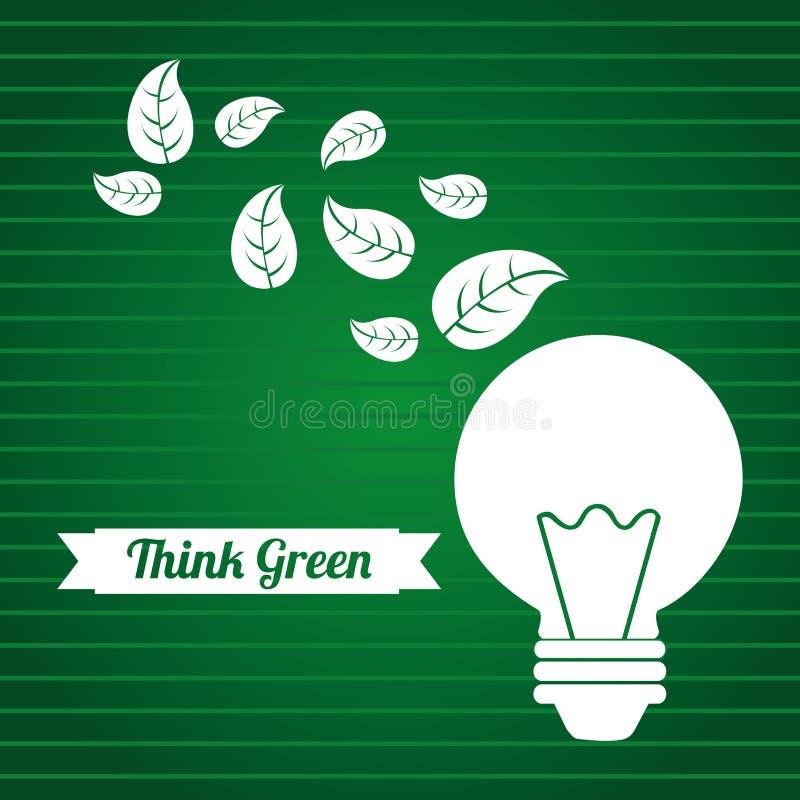 Piense el verde ilustración del vector