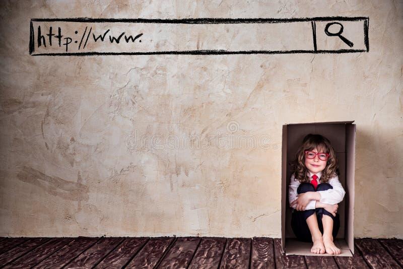 Piense fuera del concepto del negocio de la caja fotografía de archivo libre de regalías