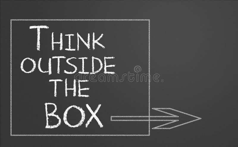 Piense fuera del rectángulo stock de ilustración