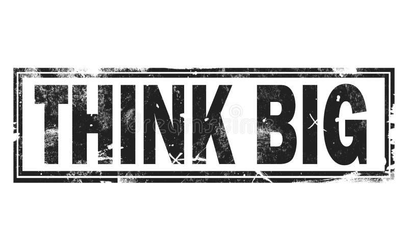 Piense la palabra grande con el marco de la casilla negra stock de ilustración
