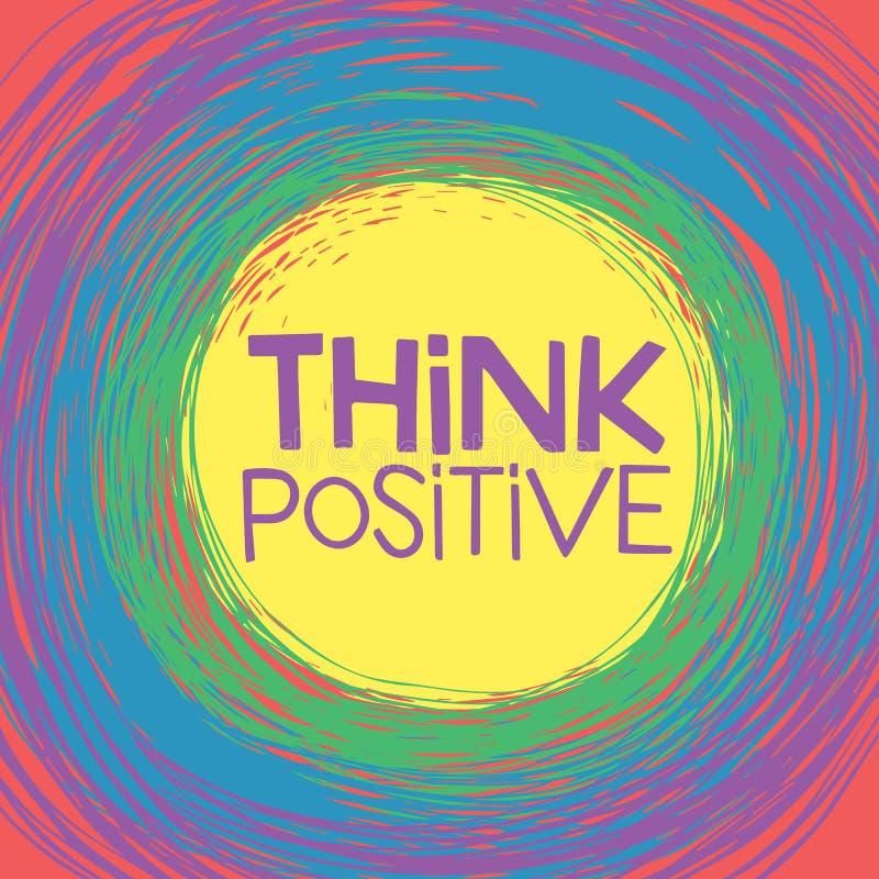 Piense la tarjeta positiva stock de ilustración