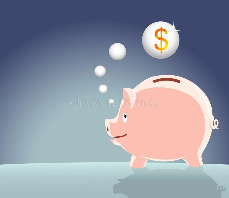 Piense los ahorros ilustración del vector