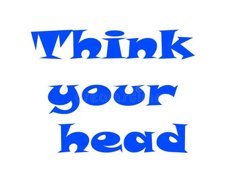 Piense su cabeza Despeje su mente Perfil masculino con una silueta de una persona, telaraña de limpieza dentro del cerebro, ejemp ilustración del vector
