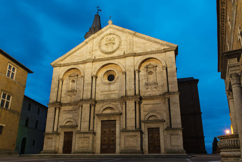 Download Pienza Cathedral View Stock Photo - Image: 83716877