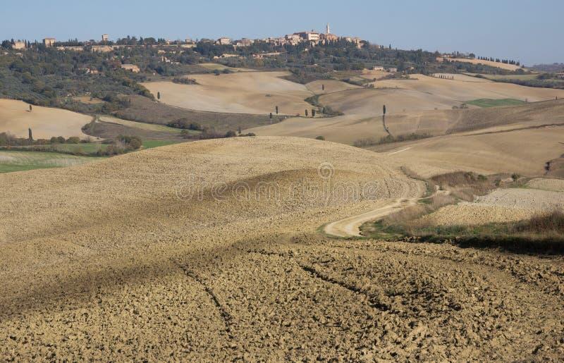 Pienza Italiaans middeleeuws dorp Siena, Italië royalty-vrije stock foto's