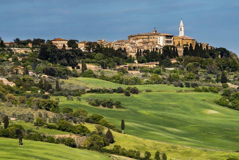 Pienza nel ` Orcia, classica di Val D di Toscana immagini stock