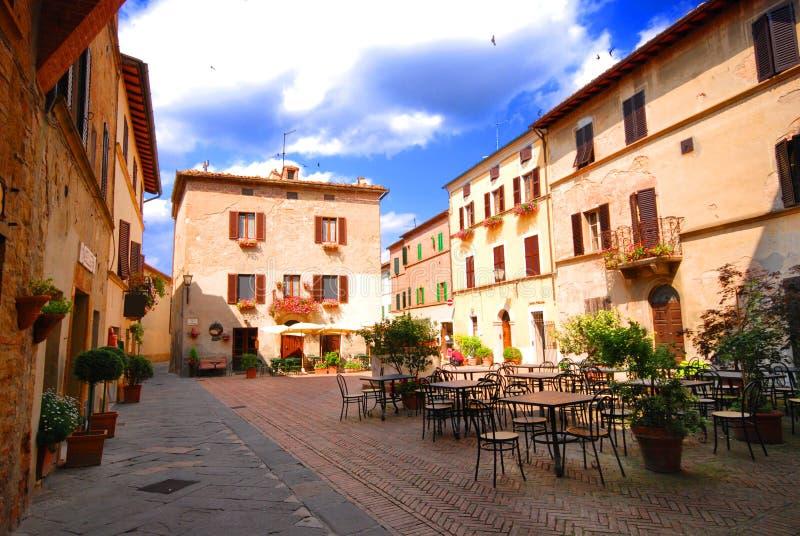 Pienza Piazzetta imagens de stock royalty free