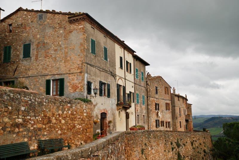 Pienza, Toscânia Italia fotos de stock royalty free
