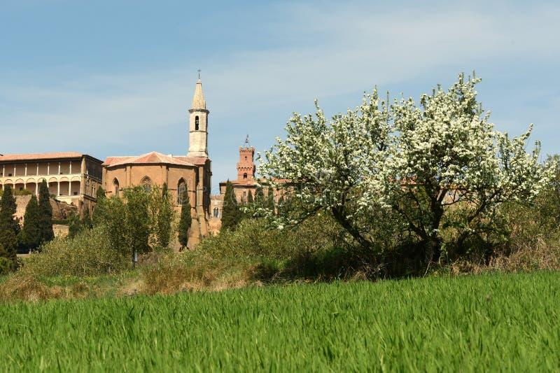 PIENZA, TOSCANE/ITALIE - 31 MARS 2017 : Village médiéval de Pienza Situé dans la campagne de Sienne image libre de droits