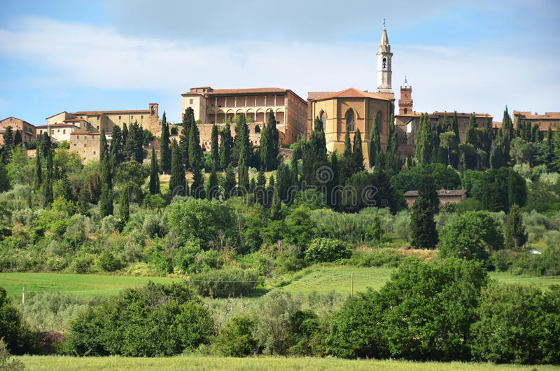 Pienza town , Italy. Pienza town in Tuscany, Italy stock images