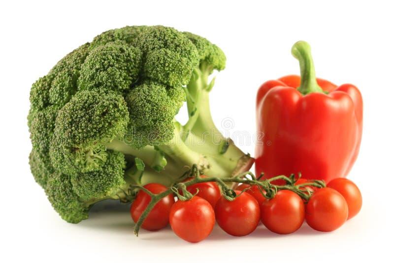 pieprzą się pomidory brokuły obraz stock