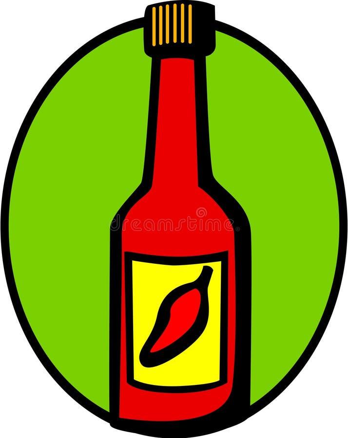 pieprz chili etykiety gorącego sosu czerwony wektora ilustracja wektor