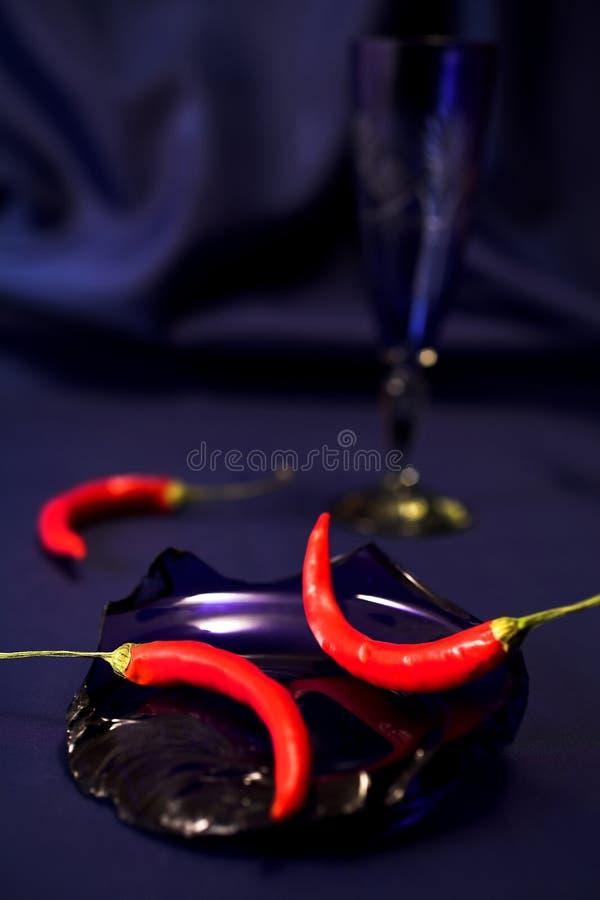 pieprzone czerwone nadal życia zdjęcie stock
