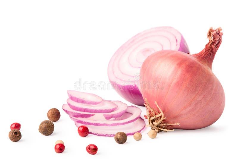 pieprzowa cebuli czerwień obraz stock