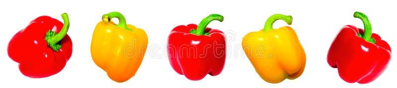 pieprzowy czerwony kolor żółty obraz stock