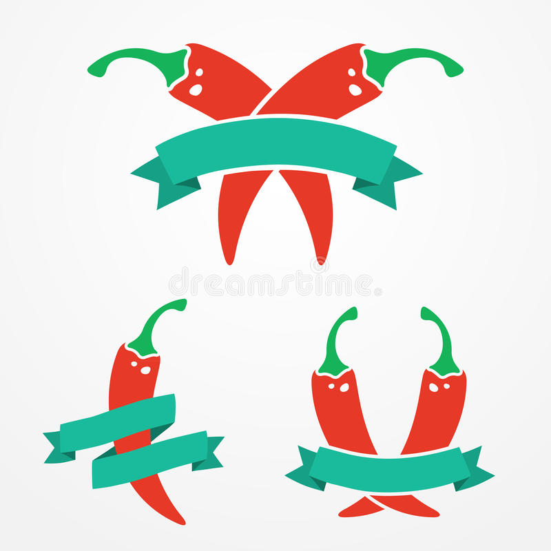 Pieprzowy logo ilustracji