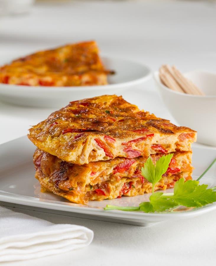 Pieprzowy omlet zdjęcia stock