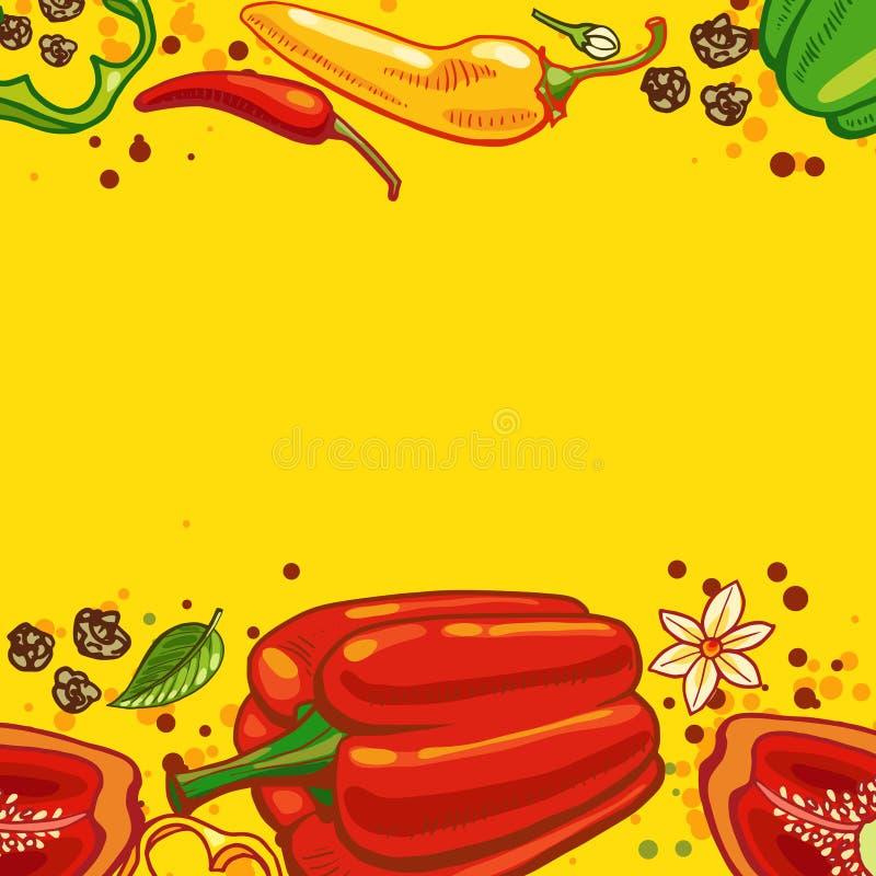 Pieprzowy tło ilustracja wektor