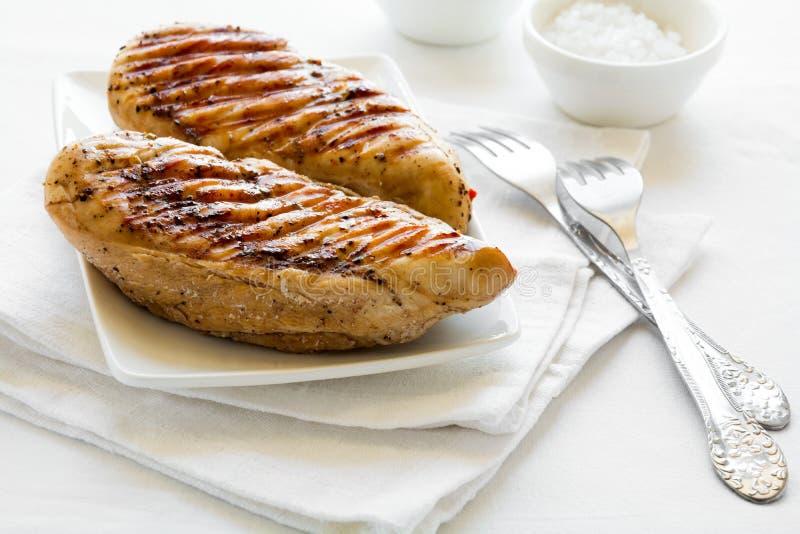 pierś kurczaka z grilla fotografia stock
