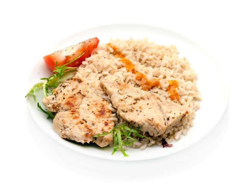 pierś smażący ryżowi stki indyczy zdjęcie stock