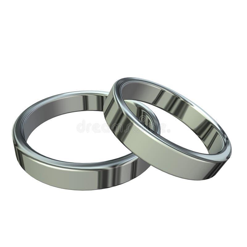 pierścień srebra royalty ilustracja