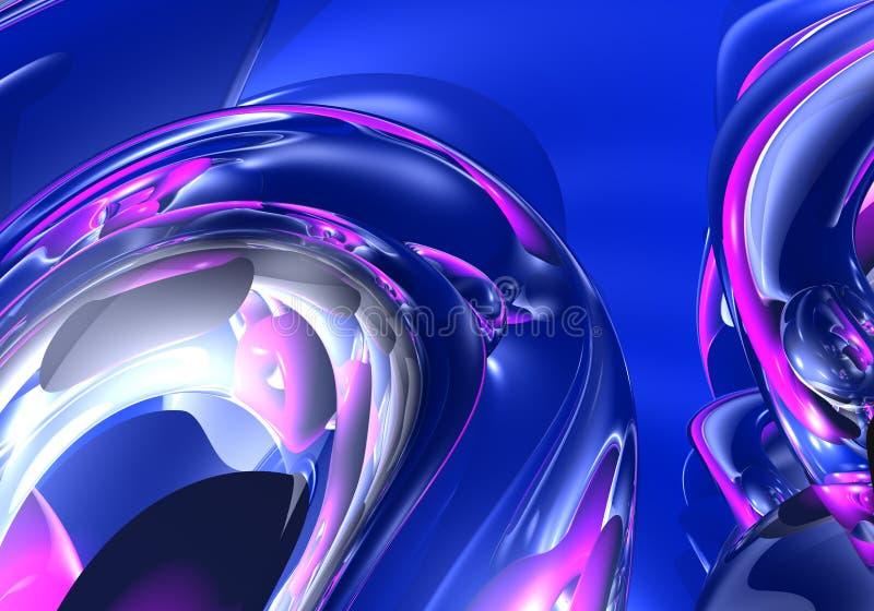 pierścienie 02 niebieski violette ilustracji