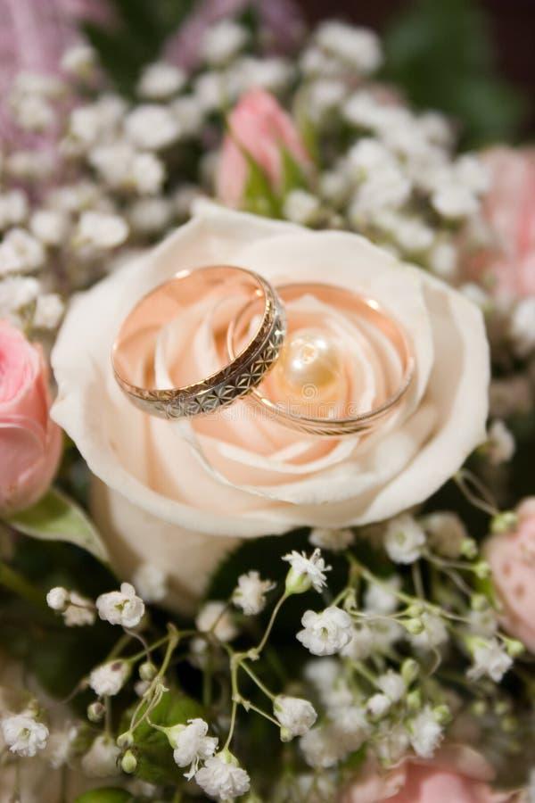 pierścienie 2 poślubić zdjęcia stock