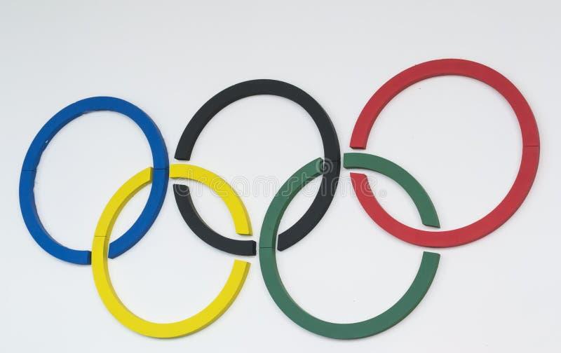 pierścienie olimpijskich fotografia stock