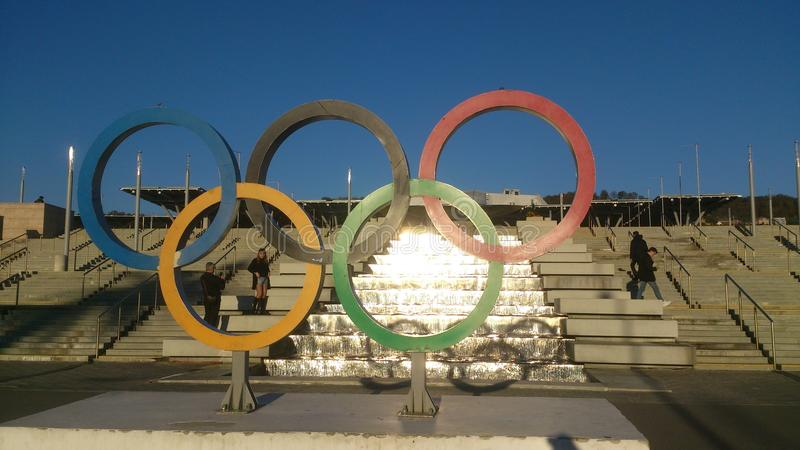 pierścienie olimpijskich fotografia royalty free