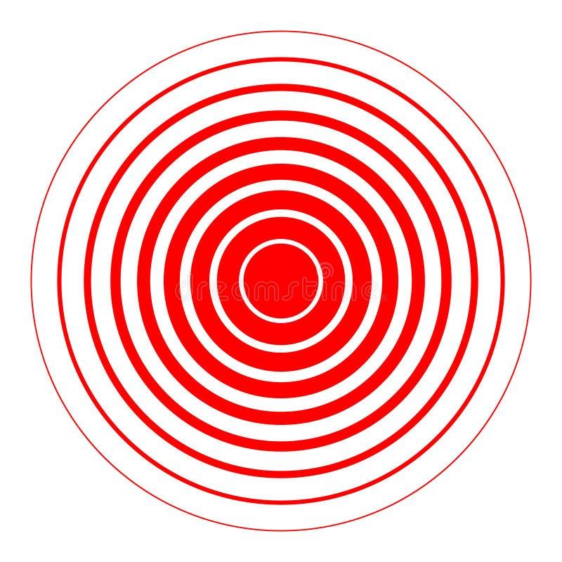 Pier?cionek czerwieni abstrakcjonistyczny znak ilustracji