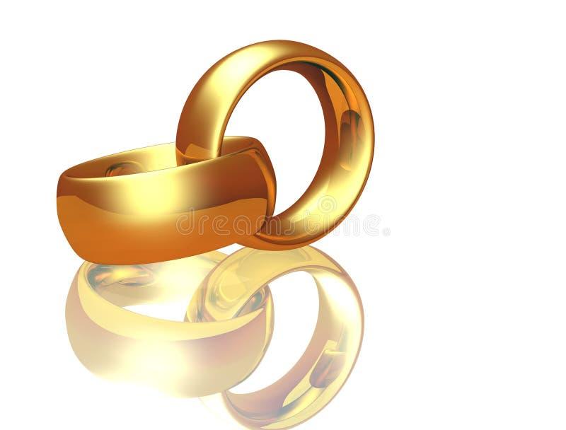 pierścionek dwa poślubia royalty ilustracja
