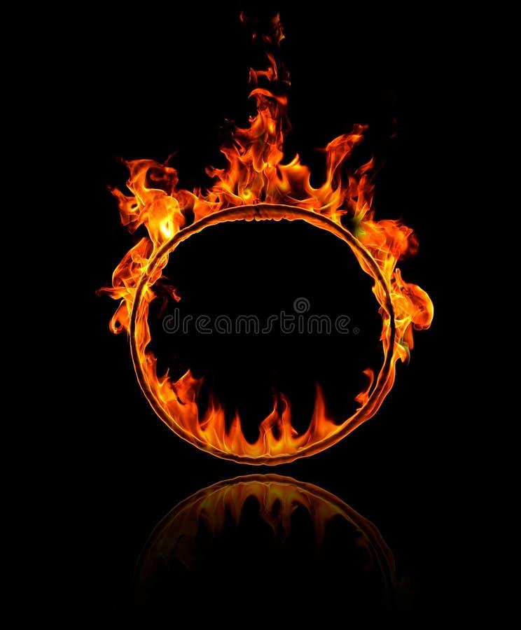 Pierścionek ogień royalty ilustracja