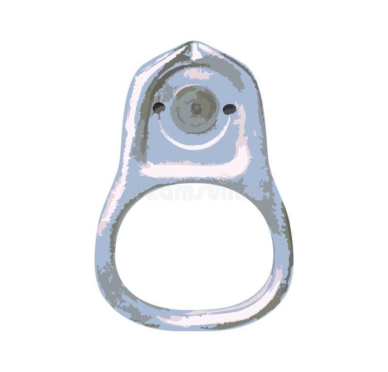 Pierścionek puszka otwierać jedzenie Element aluminiowe puszki również zwrócić corel ilustracji wektora royalty ilustracja
